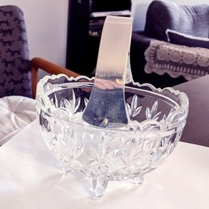 Vintage Beautiful glass and sliver basket